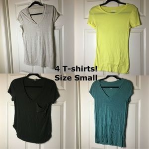 Tops - BUNDLED: 4 T-Shirts! Size Small!